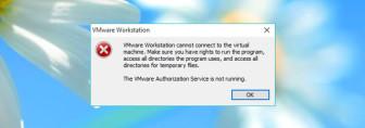 Fix: VMware Authorization Service not Running Error in Windows