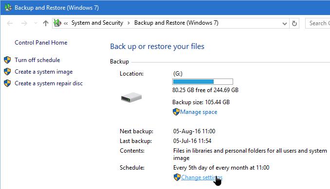 Best backup options for windows 7