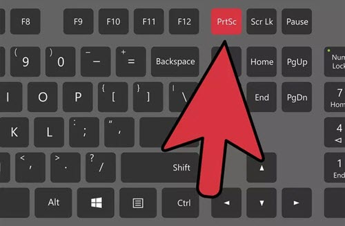 take a screenshot in windows 10 print screen button on keyboard