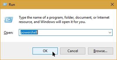 windows run commands powershell