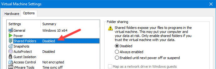 shared-folders-vmware-select-shared-folders-option