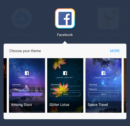 multiple facebook accounts on android facebook themes
